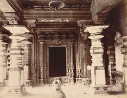 [Interior of an unidentified temple [?Amba Bahi Temple], Kolhapur].